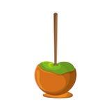 Sött äpple av den ganska matdesignen royaltyfri illustrationer