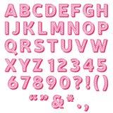 sött alfabet stock illustrationer