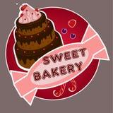 sött bageri stock illustrationer