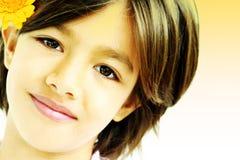 sött barn för framsida Royaltyfria Bilder