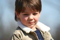 sött barn för pojke Arkivfoto