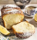 Sött bröd för citron arkivfoto