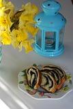 Sött bröd för påsk Royaltyfri Foto
