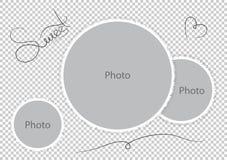 Sött foto för photoframesmallbröllop royaltyfri illustrationer