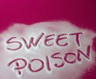 SÖTT GIFT som är skriftligt med socker Royaltyfri Fotografi