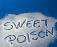 SÖTT GIFT som är skriftligt med socker Arkivfoto