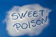 SÖTT GIFT som är skriftligt med socker Arkivbild