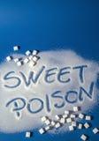SÖTT GIFT som är skriftligt med socker Fotografering för Bildbyråer