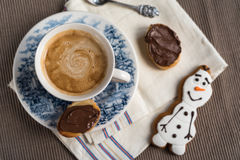 sött kaffe Fotografering för Bildbyråer