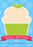Sött kort för lycklig födelsedag Arkivfoton