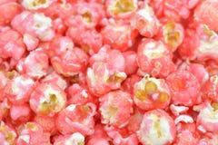 Sött rosa popcorn Royaltyfri Foto