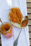 Sött sommaraprikos-persika driftstopp arkivfoton