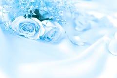 Sött steg blommor för förälskelseromans eller bröllopbakgrund arkivfoto