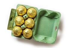 sött traditionella chokladeaster ägg Royaltyfri Foto