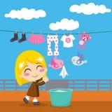 sött tvätteri royaltyfri illustrationer