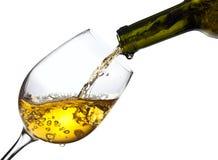 Sött vin som isoleras på vit bakgrund royaltyfri bild