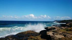Sötvatten för havsikt @, NSW Australien Fotografering för Bildbyråer