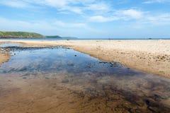 Sötvattens- östlig strand, Pembrokeshire, Wales Royaltyfria Foton