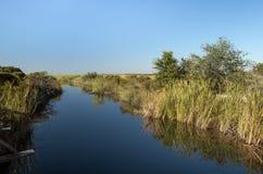 Sötvattens- kanal på Ft Pickens Florida Arkivbilder