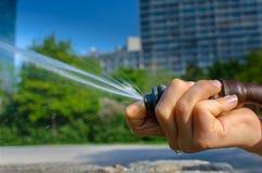 Sötvattens- och dricka springbrunnen Royaltyfria Foton