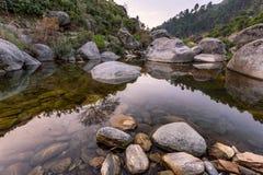 Sötvattenströmlandskap Pakistan Arkivfoto