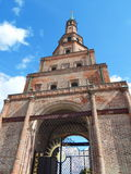 The Söyembikä Tower of the Kazan Kremlin. In the republic Tatarstan in Russia. The shot was made in August, 2015. It is one from 40 falling towers in the Stock Image