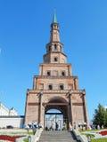 The Söyembikä Tower of the Kazan Kremlin. The Söyembikä Tower of the Kazan Kremlin in the republic Tatarstan in Russia. The shot was made in August, 2015 stock photo