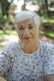 Süße ältere Dame stockbilder