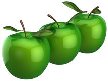 Süße Äpfel. Zwillingkonzept (Mieten) Lizenzfreie Stockfotografie