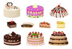 Süße Bäckerei-Sammlungs-Plakat-Vektor-Illustration Lizenzfreie Stockfotografie