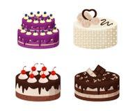 Süße Bäckerei-Sammlungs-Plakat-Vektor-Illustration Stockbilder