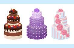 Süße Bäckerei-Sammlungs-Plakat-Vektor-Illustration Stockbild
