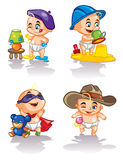 Süße Babys im Spiel Lizenzfreie Stockbilder
