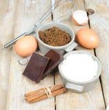 Süße Bestandteile für Kuchen stockfotografie