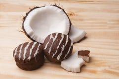 Süße Brot-Kokosnuss Lizenzfreies Stockfoto
