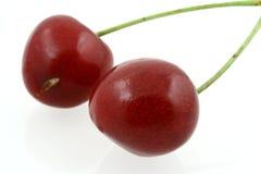 Süße cheries - reales Makro Lizenzfreies Stockbild