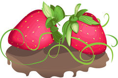 Süße Erdbeere Lizenzfreies Stockfoto