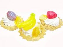 Süße Fantasie backt mit Früchten zusammen Stockbild