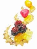 Süße Fantasie backt mit Früchten zusammen Stockfoto