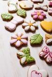 Süße Feiertagslebkuchen Lizenzfreie Stockfotos