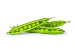 Süße grüne Erbsen in der Nahaufnahme Lizenzfreie Stockfotografie