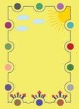 Süße Illustration für eine Glückwunschkarte, Einladung, Flieger, Postkarte oder Lizenzfreie Stockfotos