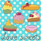 Süße Karte Stockbild