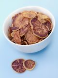 Süße Kartoffelchips Lizenzfreies Stockfoto