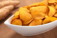 Süße Kartoffelchips Lizenzfreies Stockbild