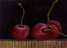 Süße Kirsche der Ölgemälde-Märchen vektor abbildung