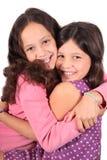 Süße kleine Schwestern Stockfotografie