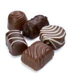 Süße Kuchennahrung des Schokoladenmuffins Stockbilder