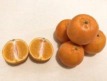 Süße Mandarinen Stockfotografie