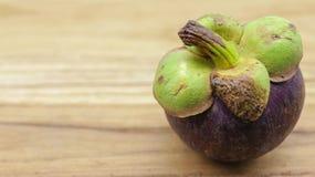 Süße Mangostanfrucht Königin der Frucht lizenzfreie stockbilder